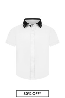 قميص أبيض للأولاد البيبي