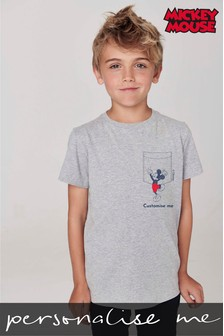 Personalised Mickey Mouse™ Pocket Character T-Shirt