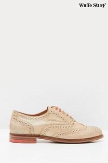 White Stuff Metallic Brogue Lace-Up Shoes