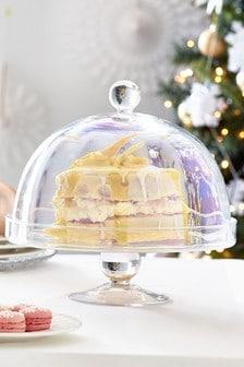 Lustre Glass Cloche Cake Stand