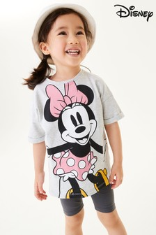 Grey Minnie Mouse T-Shirt And Leggings Set (3mths-7yrs)