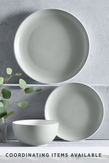 Grey  12 Piece Hutton Dinner Set