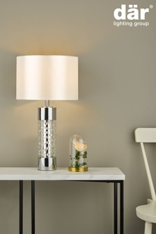 Dar Lighting Silver Yalena Large Table Lamp