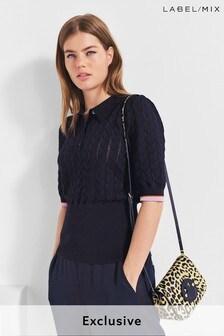 Mix/Laura Jackson Knit Poloshirt