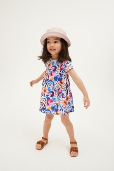 Blue Rainbow Organic Cotton Jersey Dress (3mths-7yrs)