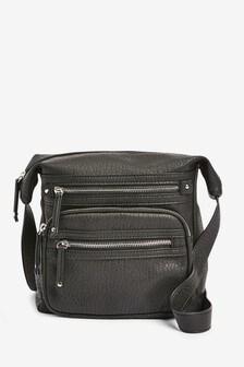 Black Washed Messenger Bag