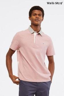 White Stuff Pink Ripley Mix Rugby Shirt