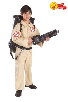 Rubies Ghostbuster Jumpsuit Costume With Inflatable Backpack