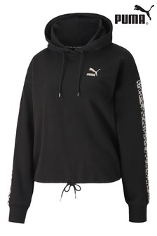 Puma® Leopard Panel Crop Hoody