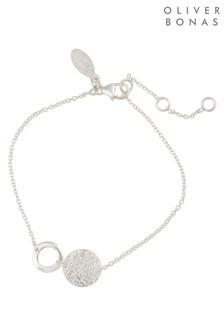 Oliver Bonas Silver Tone Double Disc Bracelet