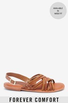 Tan Forever Comfort® Woven Slingback Sandals