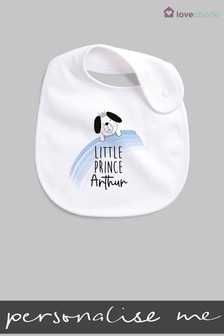 Personalised Little Prince Bib by Loveabode