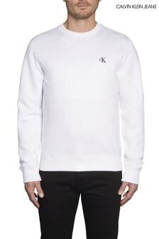 Calvin Klein Jeans White Essential Logo Sweatshirt