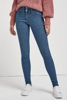 Smokey Blue Lift, Slim And Shape Skinny Jeans