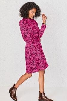 Pink Animal Tea Dress
