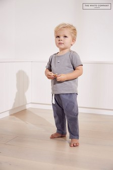 The White Company Multi Boat T-Shirt & Striped Jersey Trouser Set