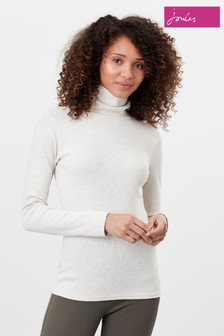 Joules Oatmeal Clarissa Roll Neck Jersey Top
