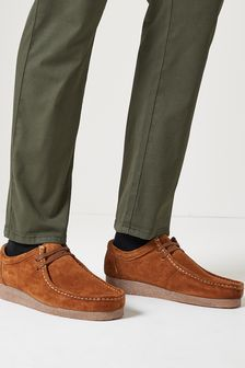 Tan Suede Apron Shoes