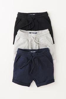 Black/Navy/Grey 3 Pack Jersey Shorts (3mths-7yrs)