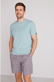 Mint Check Woven Pyjama Set