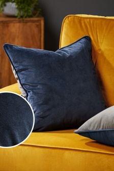 Navy Blue Mila Twin Velvet Square Cushion