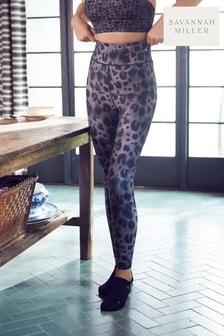 Charcoal Leopard Savannah Miller Sports Leggings