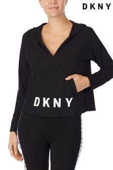 DKNY Black Long Sleeve Sleep Hoodie