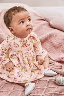 Pink Floral Jersey Dress (0mths-2yrs)