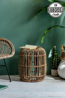 Large Rattan Side Table By Hudson Living