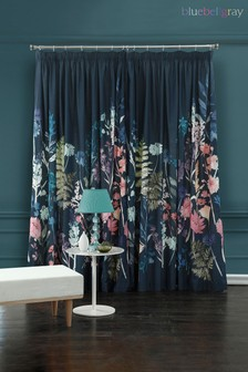 Bluebellgray Blue Peggy Midnight Curtains