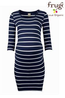 Frugi Navy Breton Organic Cotton Jersey Maternity Dress