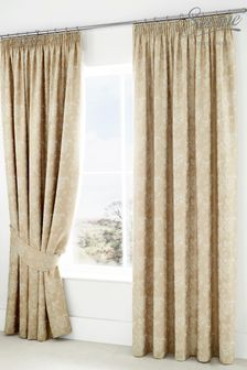 Jasmine Floral Jacquard Pencil Pleat Curtains by Serene