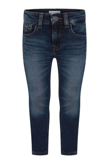 Boys Blue Cotton Skinny Fit Jeans