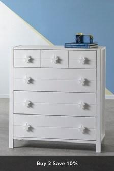 White Skye 6 Drawer Multi Chest
