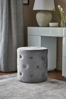 Wool Blend Grey Harper Stool