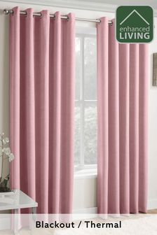 Enhanced Living Blush Lined Thermal/Blackout Curtains