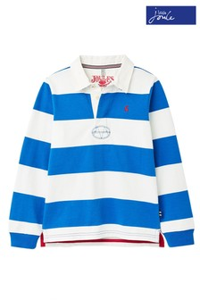 Joules Blue Onside Stripe Rugby Shirt