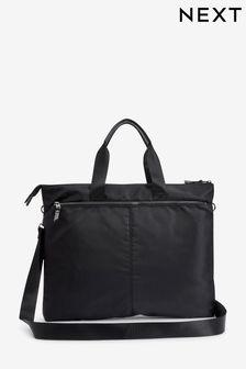 Black Laptop Tote Bag