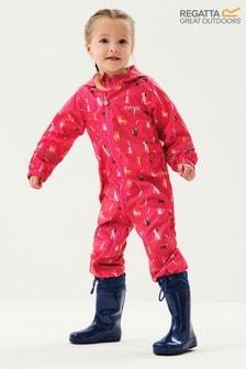 Regatta Pink Pobble Waterproof Suit