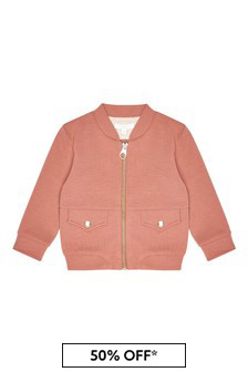 Girls Orange Jersey Bomber