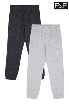 F&F Plain Joggers Two Pack