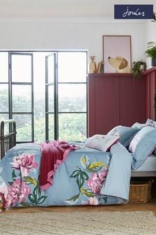 Joules Blue Melrose Duvet Cover and Pillowcase Set