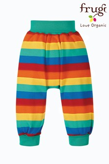 Frugi Rainbow Stripe Organic Cotton Harem Style Trousers