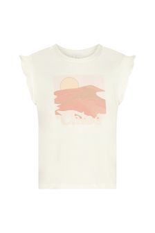 Girls Cream Cotton T-Shirt