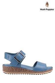 Hush Puppies Blue Ellie Heeled Sandals
