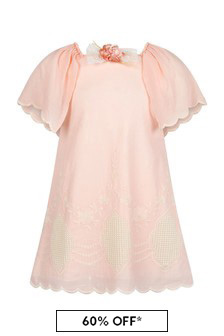 Miranda Pink Cotton Dress