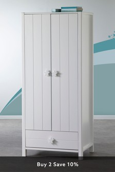 White Skye Double Wardrobe