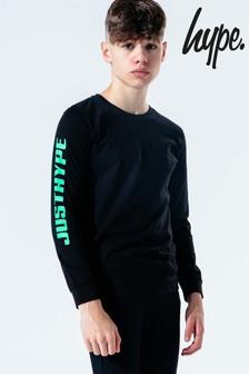 Hype. Kids Black Neon Race Long Sleeve T-Shirt