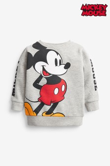 Grey Mickey Mouse™ Jersey Crew Neck Sweater (3mths-8yrs)