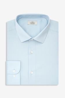 Light Blue Skinny Fit Single Cuff Stretch Easy Care Shirt